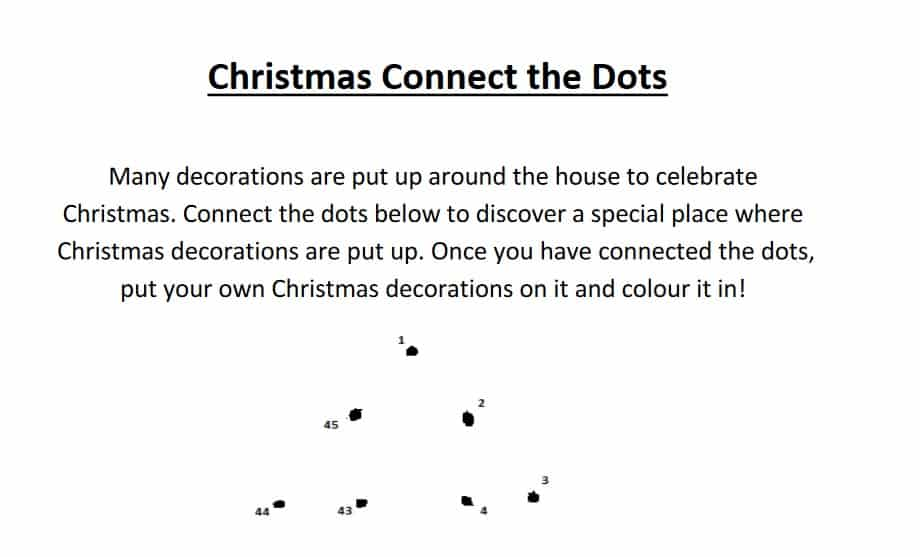 Christmas dot to dot