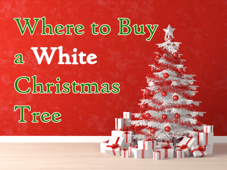 where to buy a white Christmas tree
