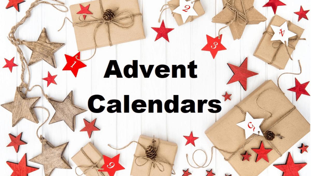Gifts Best Advent calendar Christmas decoration stars Flat lay